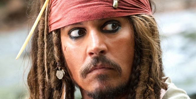 Jack Sparrow, personagem de Piratas do Caribe 5, interpretado por Johnny Depp